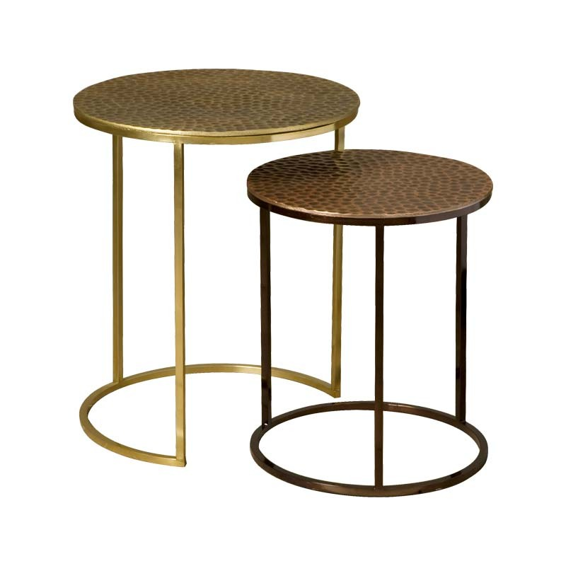 Ensemble 2 tables basses rondes 38 Megara