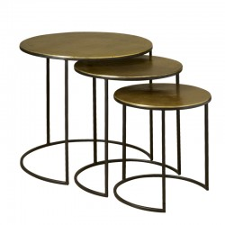 Ensemble 3 tables basses rondes 64 Megara