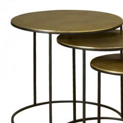 Ensemble 3 tables basses rondes 64 Megara