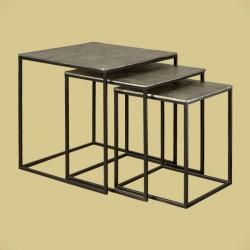 Ensemble 3 tables basses carrées 40 Megara