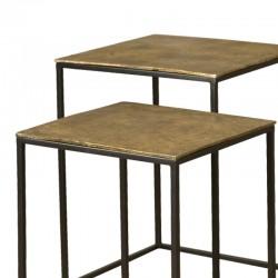Ensemble 2 tables basses carrées 40 Megara