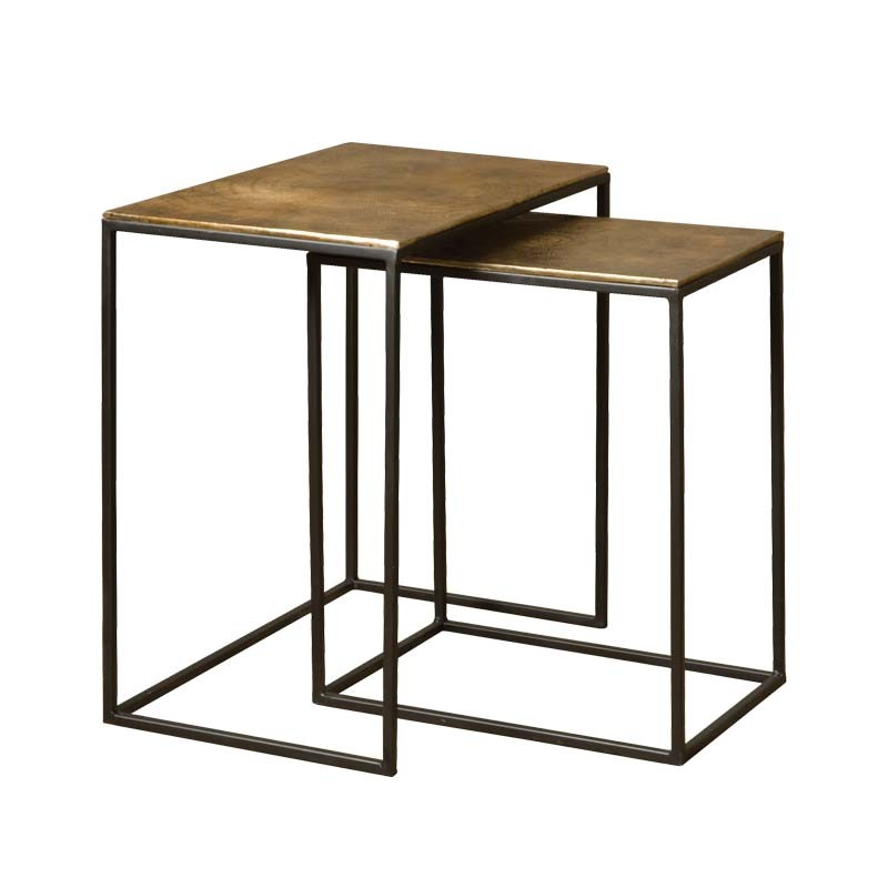Ensemble 2 tables basses rectangles 44 Megara
