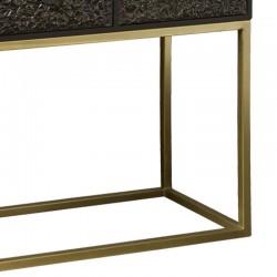 Console 3 tiroirs en métal 120 Parys