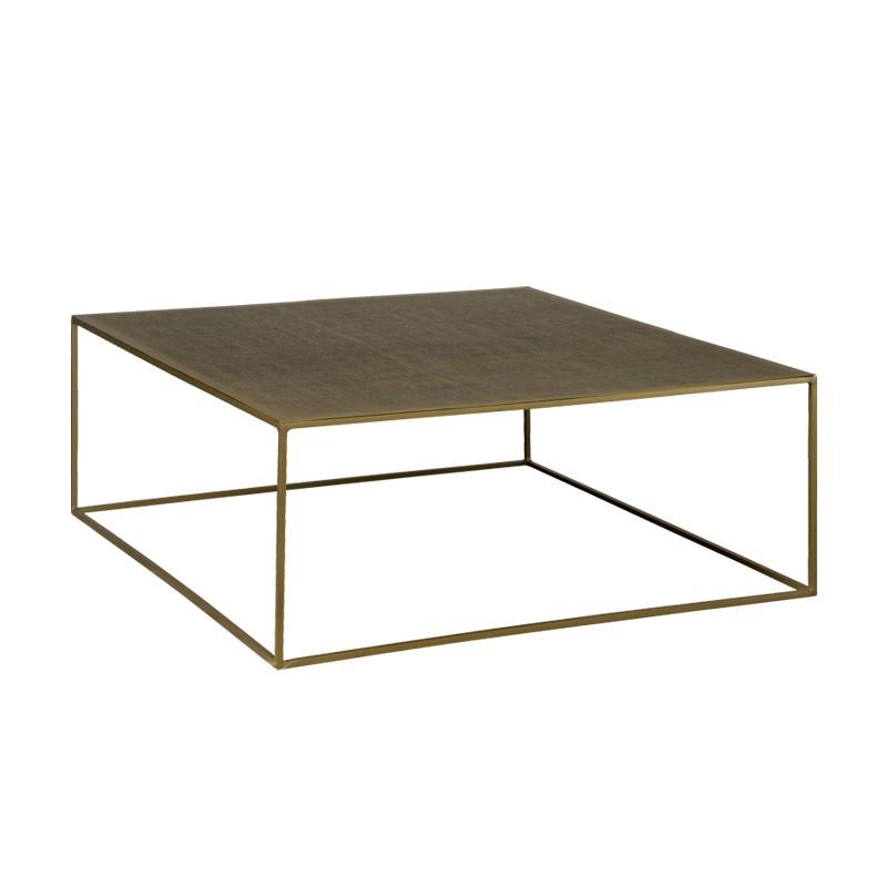 Table basse carrée en métal 100 Rory