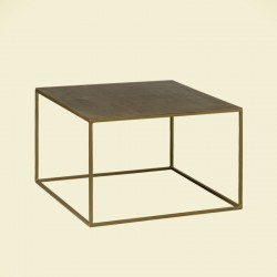 Table basse carrée en métal 60 Rory