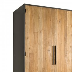 Armoire 2 portes en teck et métal 115 Felindra