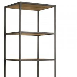 Bibliothèque 3 tiroirs en teck et métal 60 Felindra