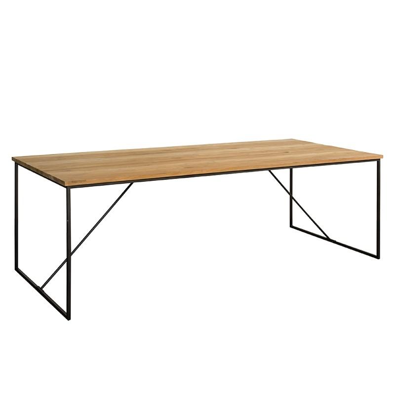 Table à manger en teck et métal Felindra