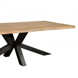 Table à manger en acacia et métal Sylvana