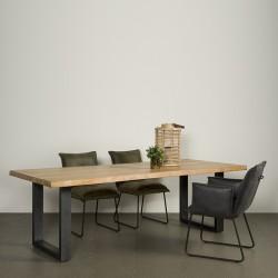 Table à manger acacia et métal Ultiva
