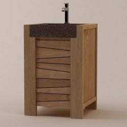 Petit meuble de salle de bain en teck