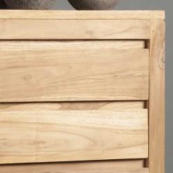 Chiffonnier 6 tiroirs en teck Losar