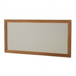 Miroir avec cadre en teck massif