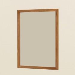 Miroir rectangle avec cadre en teck