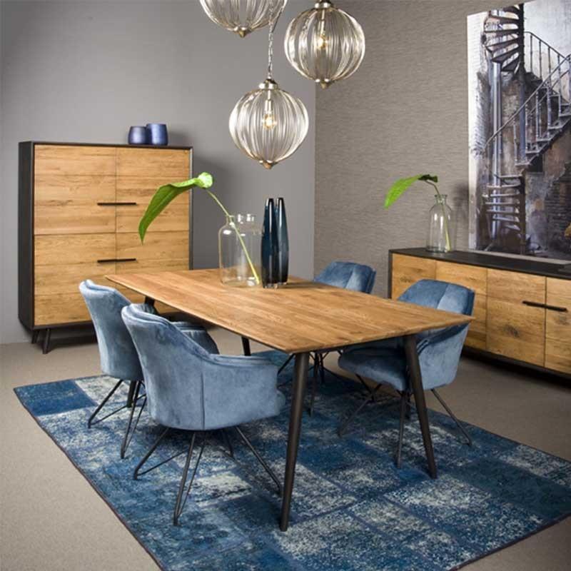 table à manger en chêne bressa dimension 180x90