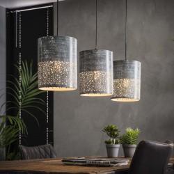 Suspension 3 lampes cylindriques effet béton