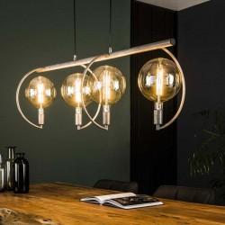 Suspension en métal 4 lampes