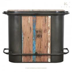 Bar industriel en bois et métal 145 Kleo
