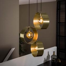 Suspension dorée 3 ampoules