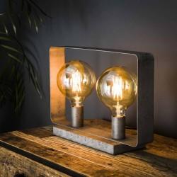 Lampe de table rectangle 2 ampoules