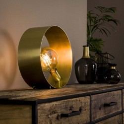 Lampe de table cercle doré
