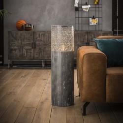 Lampadaire cylindrique effet béton 90 cm