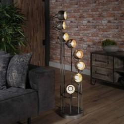 Lampadaire spots spirale 8 ampoules