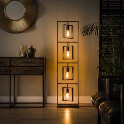 Lampadaire design géométrique 4 ampoules