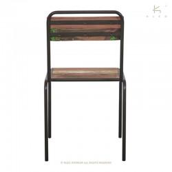 Chaise en bois et métal Epicurean