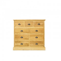 Commode 9 tiroirs en teck Country