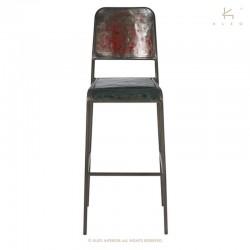 Chaise haute en métal Kleo Dining