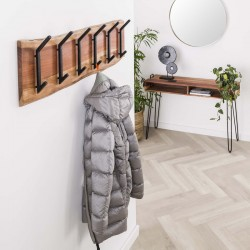 Porte manteau 2x6 crochets