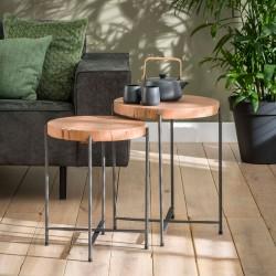 Ensemble tables gigognes en acacia