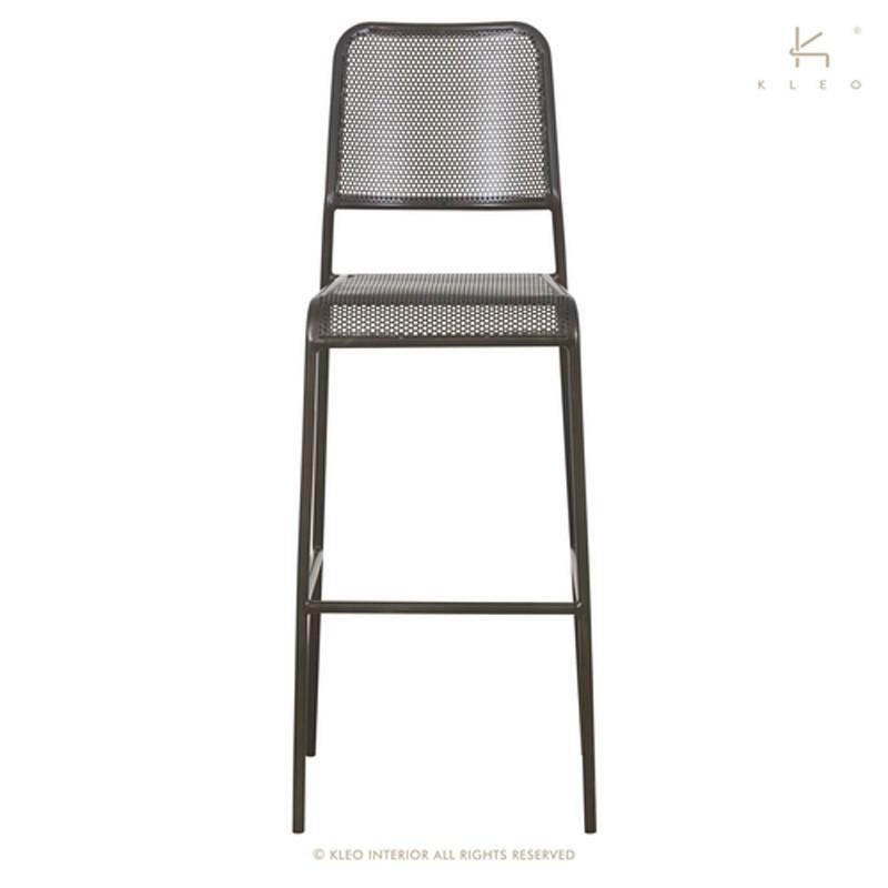Chaise haute en métal perforé Kleo Dining