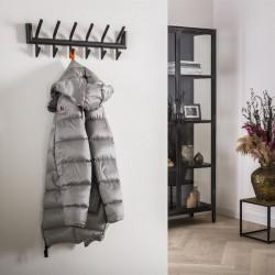 Porte manteau 2x6 crochets en métal