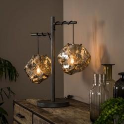 Lampe de table roches en verre
