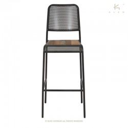 Chaise haute en bois et...