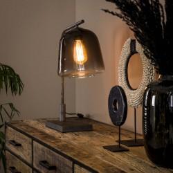 Lampe de table design lanterne de verre