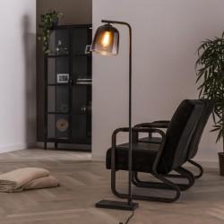 Lampadaire design lanterne de verre
