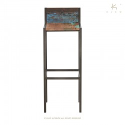 Chaise haute en bois et métal industry