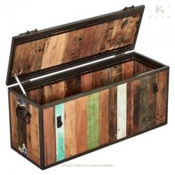 Coffre de rangement en bois et métal 100 Industry