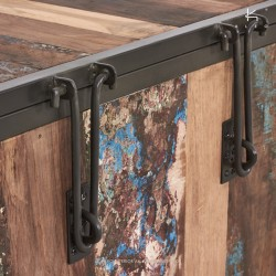 Coffre de rangement en bois et métal 50 Industry