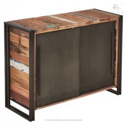 Buffet portes coulissantes en bois et métal 120 Industry