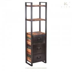 Etagère 2 plateaux en bois et métal Industry