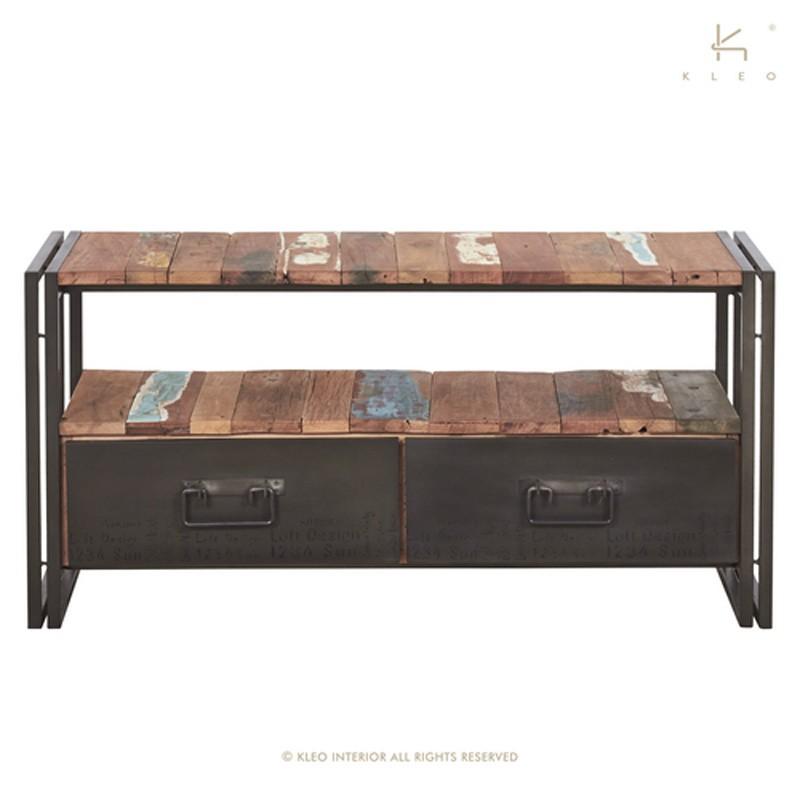 Meuble TV en bois et métal 115 Industry