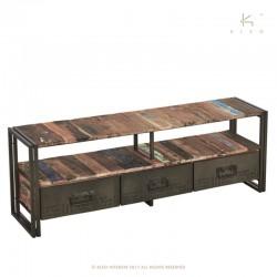 Meuble TV en bois et métal 160 Industry