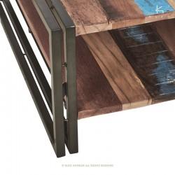 Table basse en bois et métal 80x80 Industry