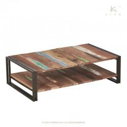 Table basse en bois et métal 120x70 Industry