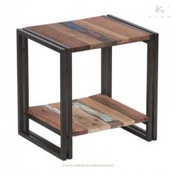 Table d'appoint en bois et métal 50x40 Industry