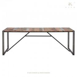 Table à manger en bois et métal 200x100 Industry